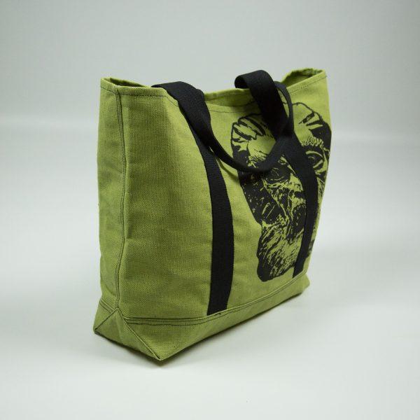 Сумка шоппер зелёная