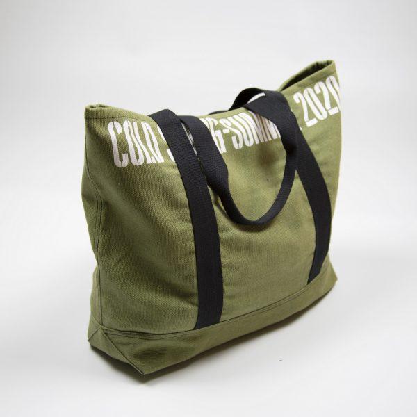 Зелёная сумка тоут