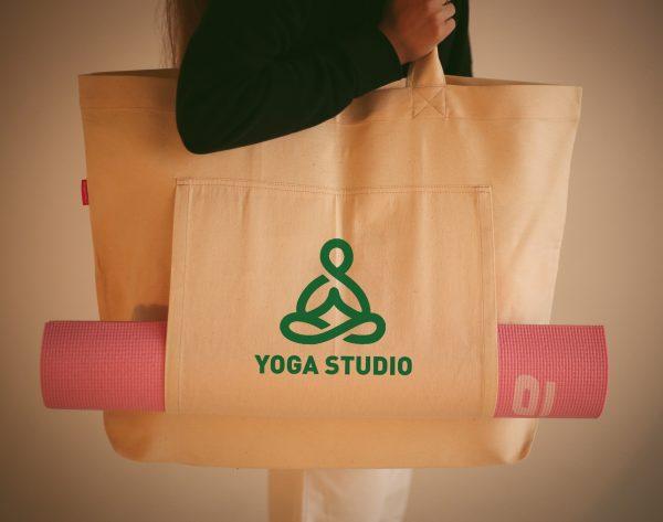 Сумка шоппер для йоги